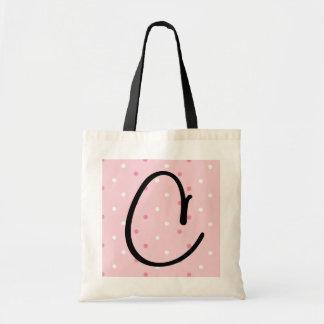 Saco do favor do casamento do monograma bolsas para compras