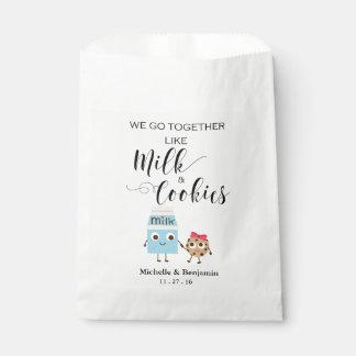 Saco do favor do casamento - nós vamos junto sacolinha