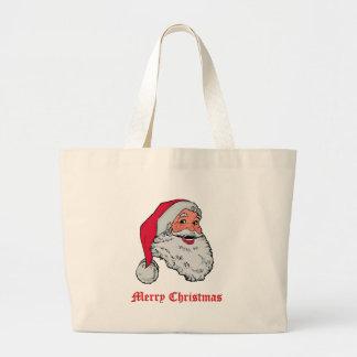 Saco do Feliz Natal do papai noel Bolsa Tote Grande
