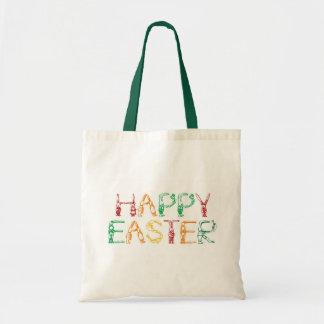 Saco do felz pascoa bolsas para compras