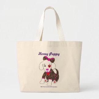 Saco do filhote de cachorro do mel bolsa de lona
