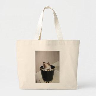saco do gato sacola tote jumbo