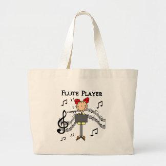 Saco do jogador de flauta sacola tote jumbo