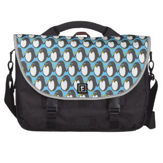 Saco do laptop da invasão do pinguim maletas para laptop