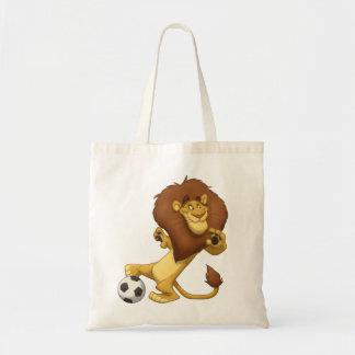 Saco do leão do futebol bolsas de lona