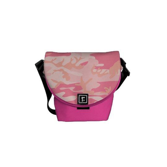 Saco do messneger da camuflagem cor-de-rosa do bolsas mensageiro
