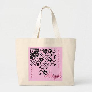 Saco do nome II do desenhista de Abigail - customi Sacola Tote Jumbo