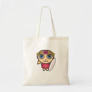 Saco do personagem de desenho animado da menina do bolsa