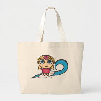 Saco do personagem de desenho animado da menina do bolsas para compras
