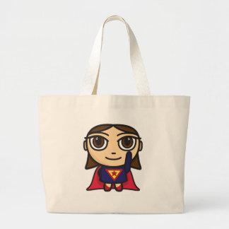 Saco do personagem de desenho animado da menina do bolsa de lona