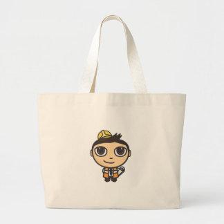 Saco do personagem de desenho animado do construto bolsas para compras