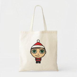 Saco do personagem de desenho animado do menino do sacola tote budget