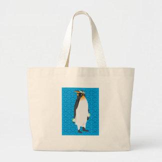 Saco do pinguim da natação bolsa tote grande