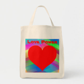 Saco do poder do amor sacola tote de mercado