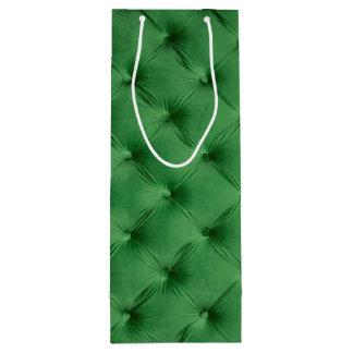 Saco do presente com capitone verde sacola para vinho