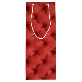 Saco do presente com capitone vermelho sacola para vinho