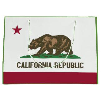 Saco do presente da bandeira do estado de sacola para presentes grande