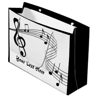 Saco do presente da contagem da música grande sacola para presentes grande
