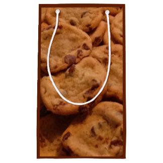 Saco do presente da foto dos biscoitos dos pedaços sacola para presentes pequena