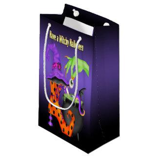 Saco do presente de Witchy o Dia das Bruxas Sacola Para Presentes Pequena
