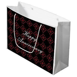 Saco do presente do aniversário sacola para presentes grande