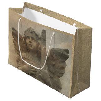 Saco do presente do anjo do vintage grande sacola para presentes grande