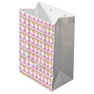 Saco do presente do cupcake sacola para presentes média