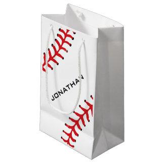 Saco do presente do design do softball do basebol sacola para presentes pequena