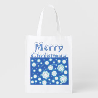 Saco do presente do Natal dos flocos de neve Sacola Reusável