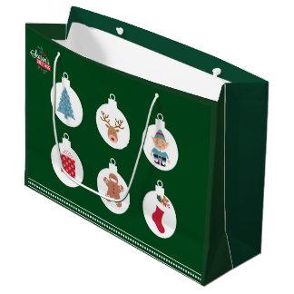 saco do presente do Natal Sacola Para Presentes Grande