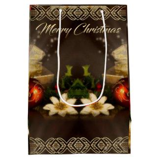 Saco do presente do Natal Sacola Para Presentes Média