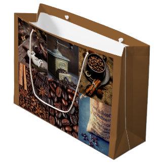 Saco do presente dos doces de chocolate do café - sacola para presentes grande