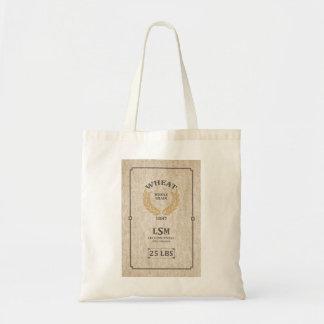 Saco do trigo do vintage bolsas de lona