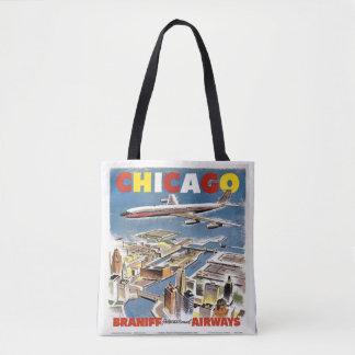 Saco do vintage do bolsa do viagem das vias aéreas