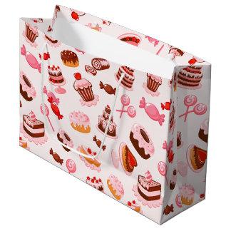 Saco doce do presente da sobremesa - grande sacola para presentes grande