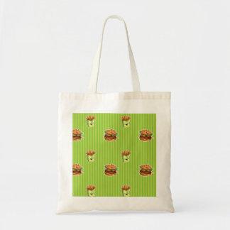 saco dos desenhos animados com Hamburger e Sacola Tote Budget