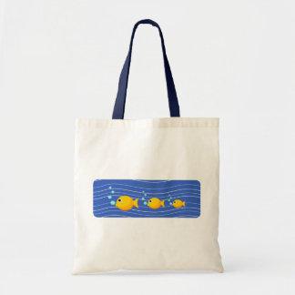 Saco dos peixes dos desenhos animados bolsa