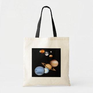 Saco dos planetas do sistema solar sacola tote budget