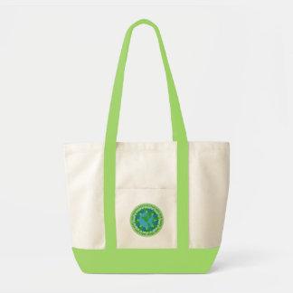 Saco dos slogan do Dia da Terra Bolsa Para Compra