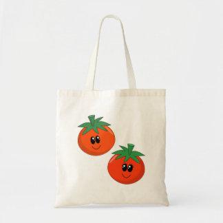 Saco dos tomates dos desenhos animados bolsas para compras