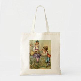saco duas crianças colheita das cerejas bolsas para compras