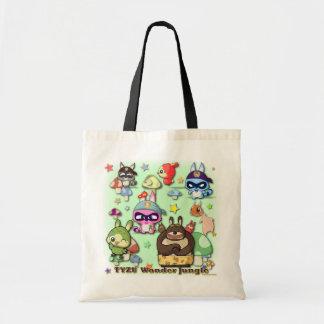 Saco engraçado de Kawaii dos personagens de desenh Bolsa Para Compras
