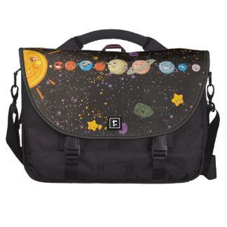 Saco engraçado do computador dos planetas do siste bolsas para computador portátil