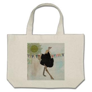 Saco ensolarado da avestruz ornamentado bolsa para compra