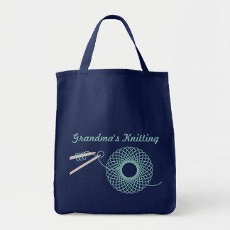 Saco escuro de confecção de malhas nomeado da cerc bolsas para compras