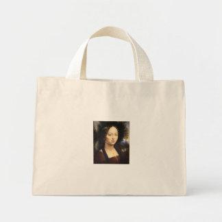Saco feito sob encomenda retrato caracterizado do  bolsas para compras
