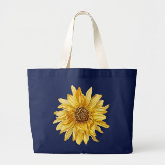 Saco floral com girassol amarelo sacola tote jumbo