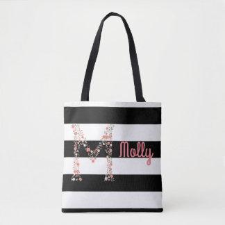 Saco floral personalizado bolsas tote