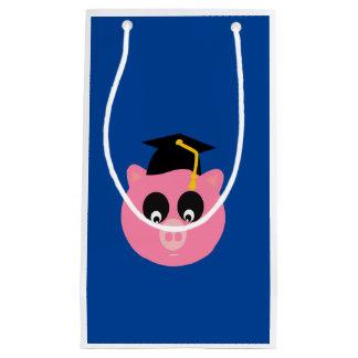 Saco graduado do presente do porco - pequeno, sacola para presentes pequena