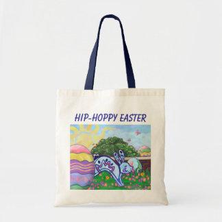 Saco Hoppy anca do coelhinho da Páscoa Bolsa Para Compras
